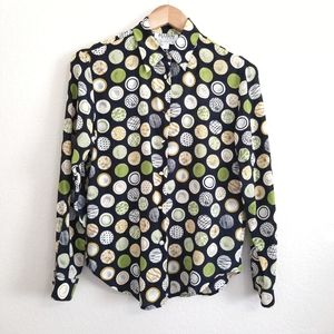 Allison Taylor Silk Printed Blouse Small